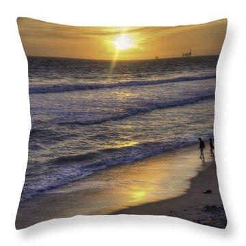 Golden West Sunset Throw Pillow