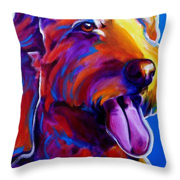 Goldendoodle - Dawny Throw Pillow by Alicia VanNoy Call
