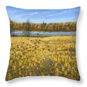 Goldenrod Throw Pillow by Doug Kreuger