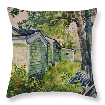 Throw Pillow featuring the painting Goldenrod by Joy Nichols