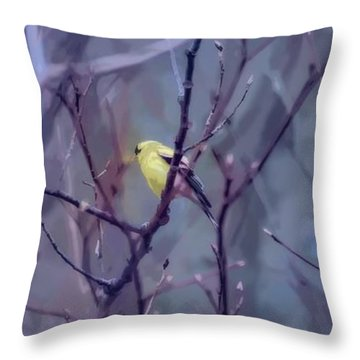 Goldfinch In The Woods 2 Throw Pillow