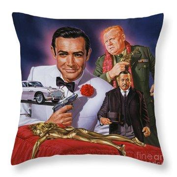 Goldfinger Throw Pillow