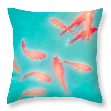 Goldfish - Glowing Fish - Gary Heller Throw Pillow