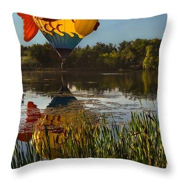 Goldfish Reflection Throw Pillow
