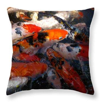 Goldfish Shimmer Throw Pillow