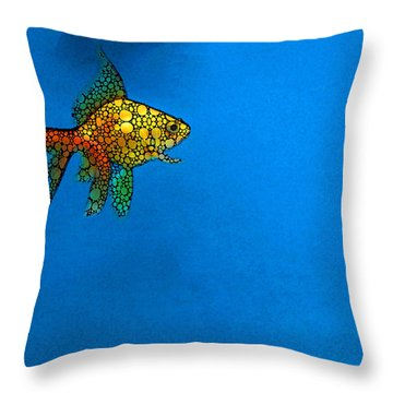 Goldfish Study 4 - Stone Rock'd Art By Sharon Cummings Throw Pillow
