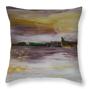 Goldfishing Throw Pillow