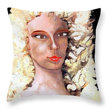 Goldilocks Throw Pillow by Daniel Janda