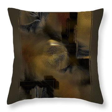 Golds-n-browns Throw Pillow