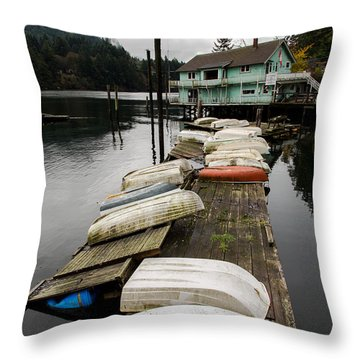 Goldstream Marina Throw Pillow