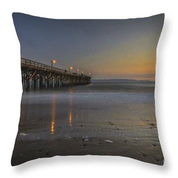 Goleta At Sunset Throw Pillow