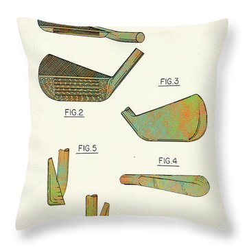 Golf Club Patent-1989 Throw Pillow