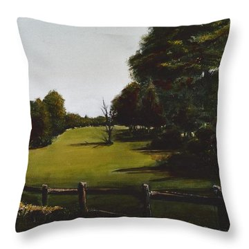 Golf Course In Duxbury Ma Throw Pillow by Diane Strain