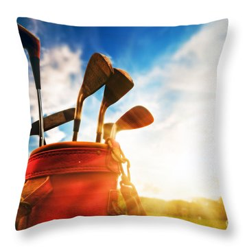 Golf Equipment  Throw Pillow