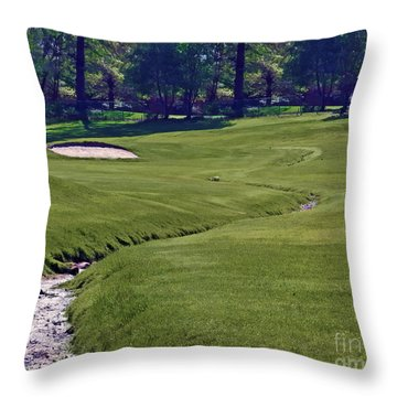 Golf Hazards Throw Pillow
