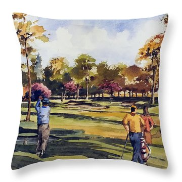 Golf In Ireland Throw Pillow