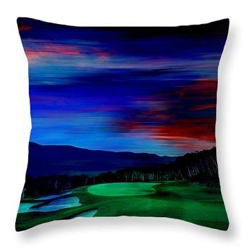 Golf Throw Pillow by Marvin Blaine