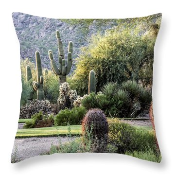 Golf Paradise Throw Pillow by Fred Larson