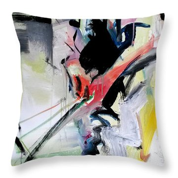 Throw Pillow featuring the painting Golf Pipe by John Jr Gholson