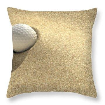 Golf Sand Trap Throw Pillow by Allan Swart