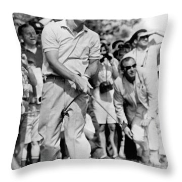Golfer Arnold Palmer Throw Pillow