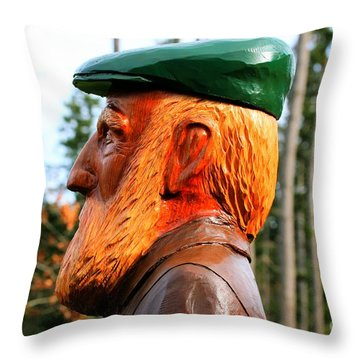 Golfer Profile Throw Pillow by Tap On Photo