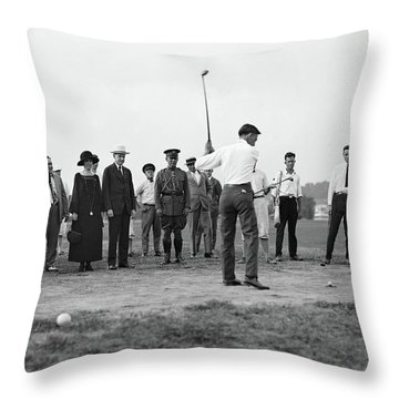 Golfing, 1924 Throw Pillow