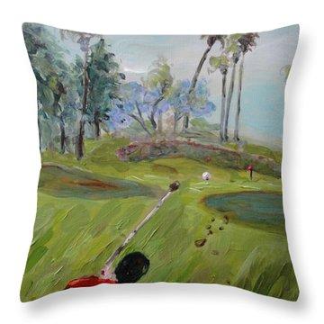 Golfing At Monarch Throw Pillow