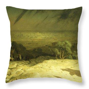 Golgotha Throw Pillow by Jean Leon Gerome