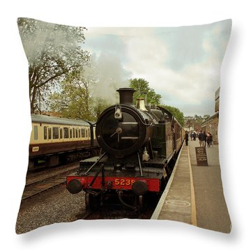 Goliath The Engine And Anna Throw Pillow by Terri Waters