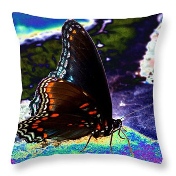 Gona-fly-butterfly Throw Pillow by Kim Pate