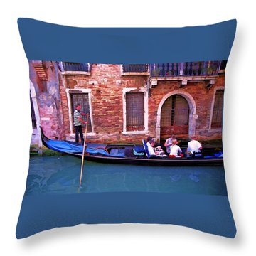 Throw Pillow featuring the photograph Gondola 4 by Allen Beatty