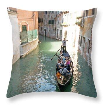 Gondola Throw Pillow by Evgeny Pisarev