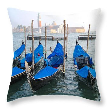 Gondolas Throw Pillow by Suzanne Oesterling