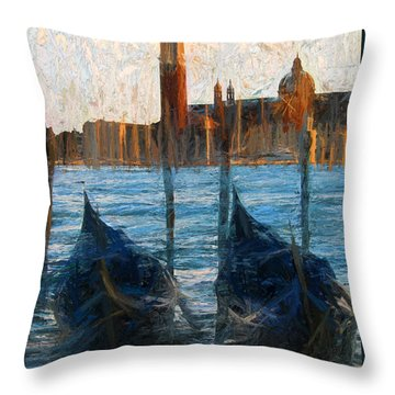 Throw Pillow featuring the photograph Gondole by Jack Torcello