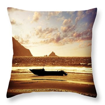 Throw Pillow featuring the photograph Gone Fishin' by Aaron Berg