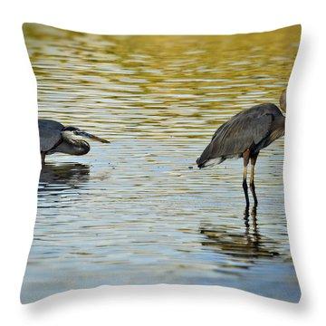 Gone Fishin' Throw Pillow by Saija  Lehtonen
