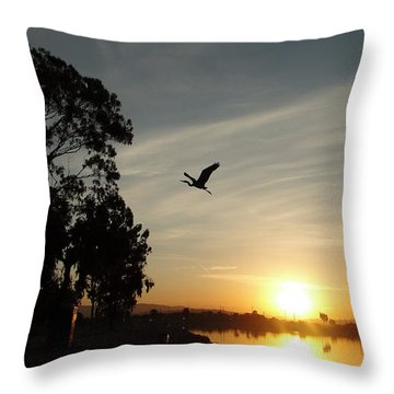 Throw Pillow featuring the photograph Gone Fishing  by Kevin Ashley