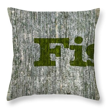 Gone Fishing Throw Pillow by Michelle Calkins