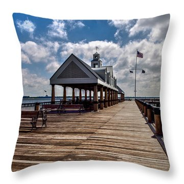 Throw Pillow featuring the photograph Gone Fishing by Sennie Pierson