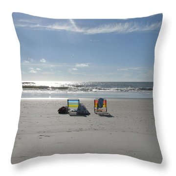 Gone For A Walk Throw Pillow by Ellen Meakin