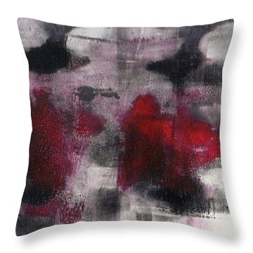 Throw Pillow featuring the painting Gone In 45 Seconds by Lesley Fletcher