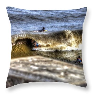 Throw Pillow featuring the photograph Gone In Seconds by Tyson Kinnison