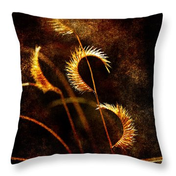 Gone To Seed Throw Pillow by Karen Slagle