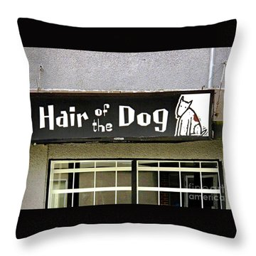 Gone To The Dogs Throw Pillow