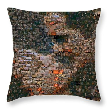 Gone With The Wind Scene Mosaic Throw Pillow