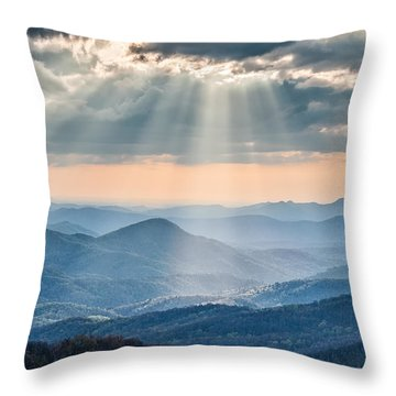 Good Afternoon From Max Patch Throw Pillow by Rob Travis