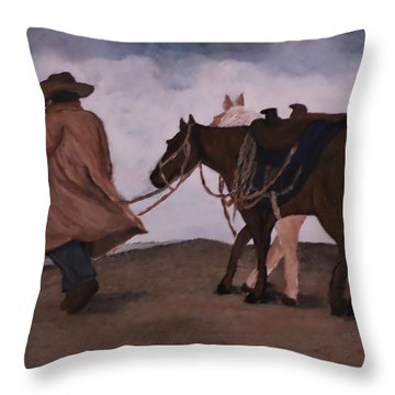 Good Day For A Walk Throw Pillow by Christy Saunders Church