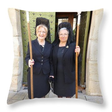 Good Friday At Iglesia De Santa Maria Throw Pillow by Susan Alvaro