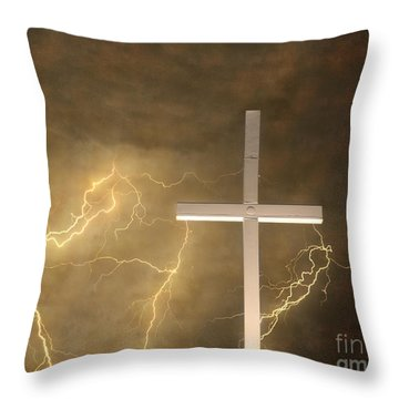 Good Friday In Sepia Texture Throw Pillow by James BO  Insogna